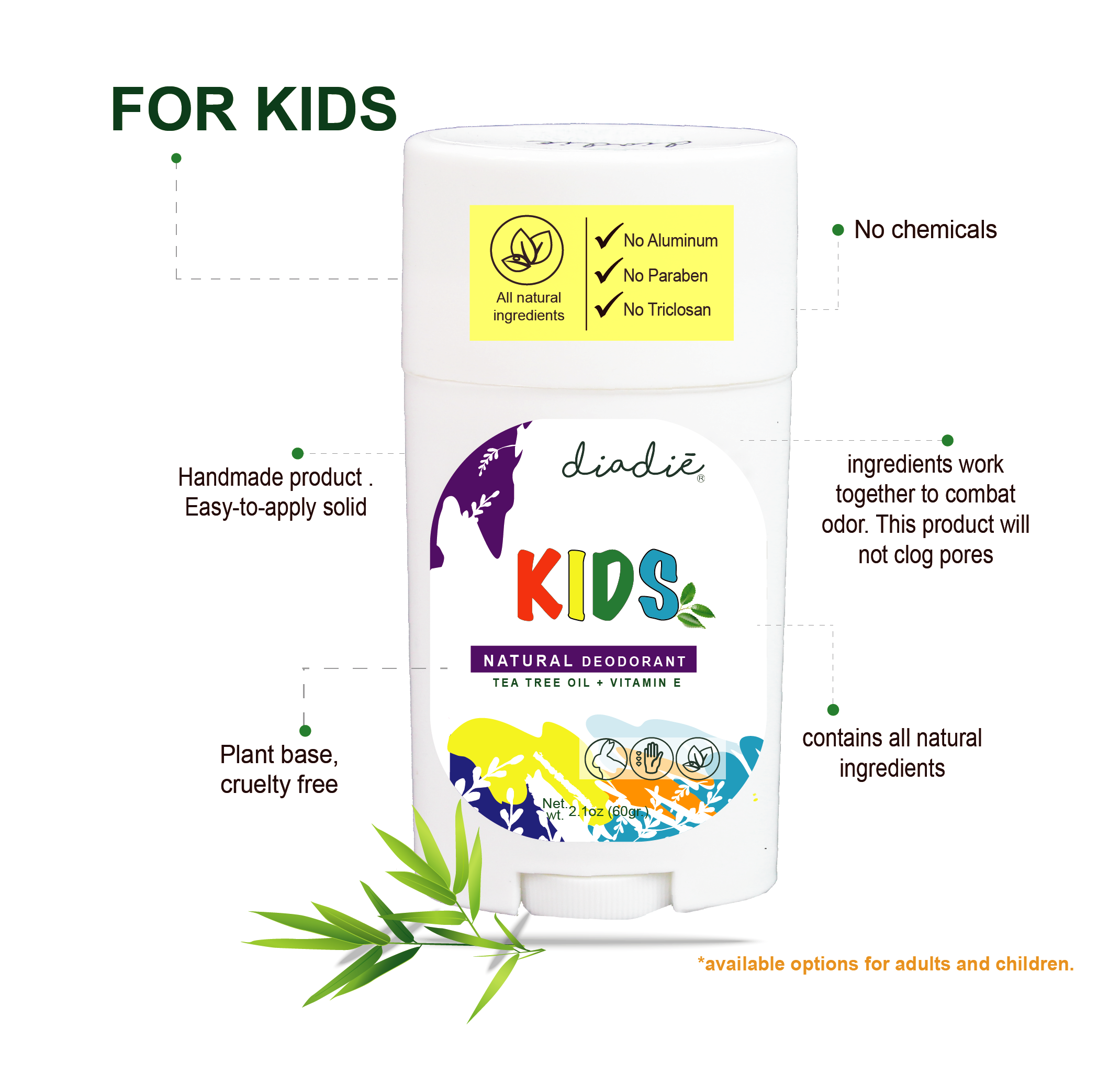 diadie natural deodorant kids